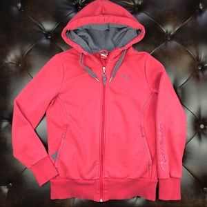 Puma pink zip up hoodie with pockets EUC